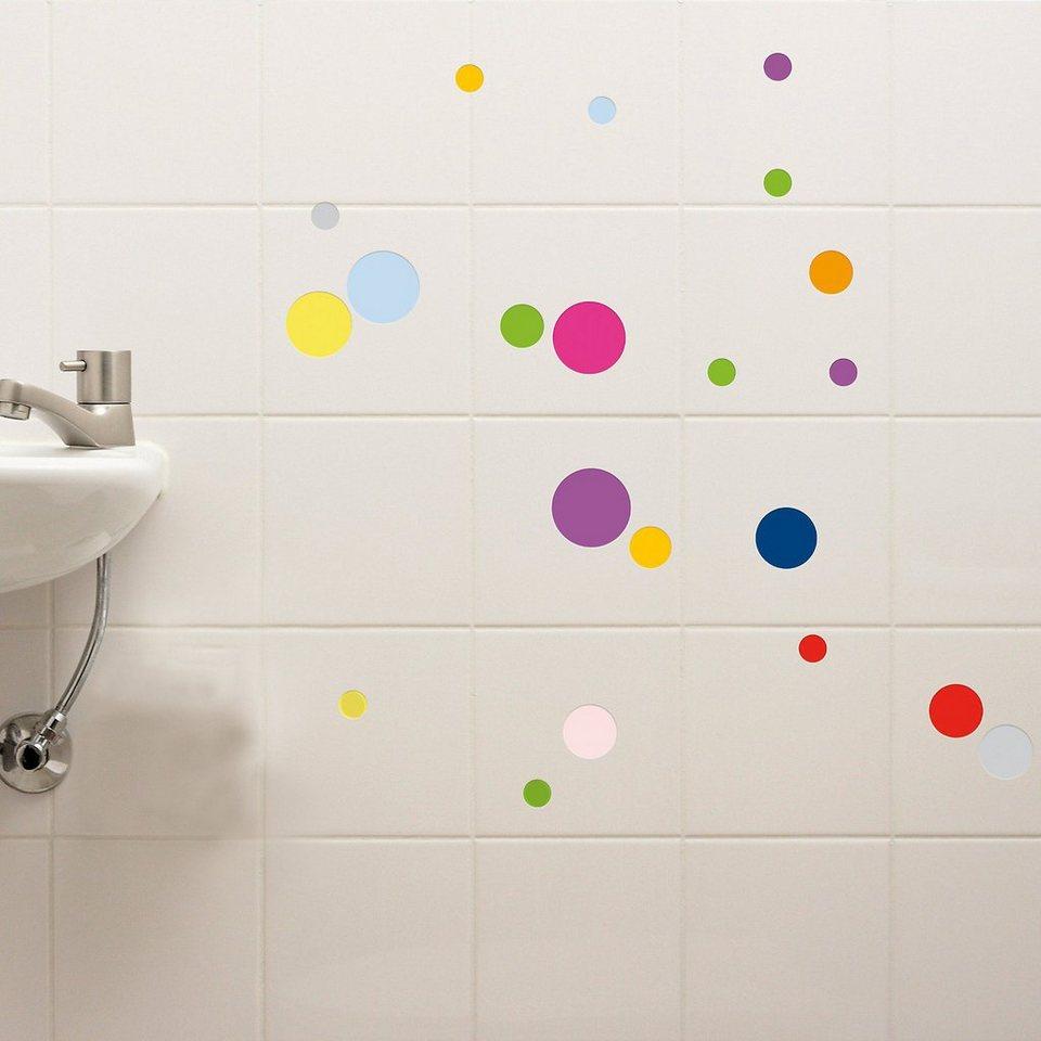 Sticker Punkte, 61-tlg. in mehrfarbig