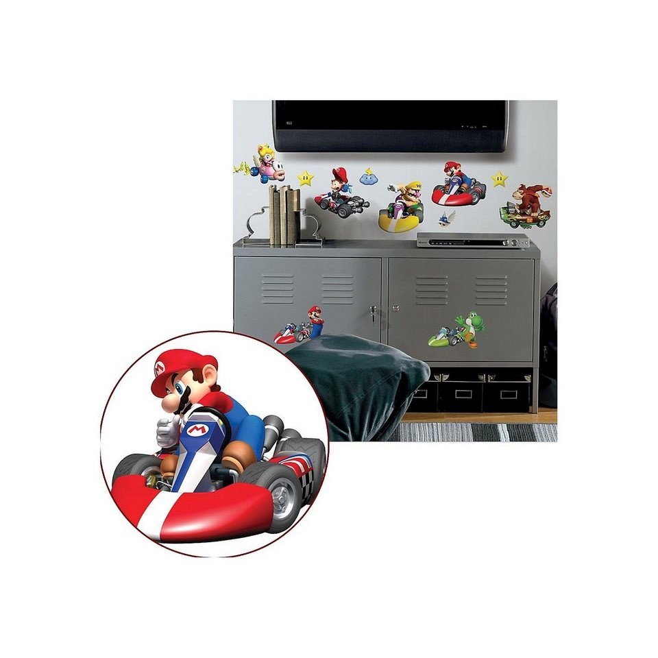 RoomMates Wandsticker Nintendo Mario Kart Wii, 35-tlg. in mehrfarbig