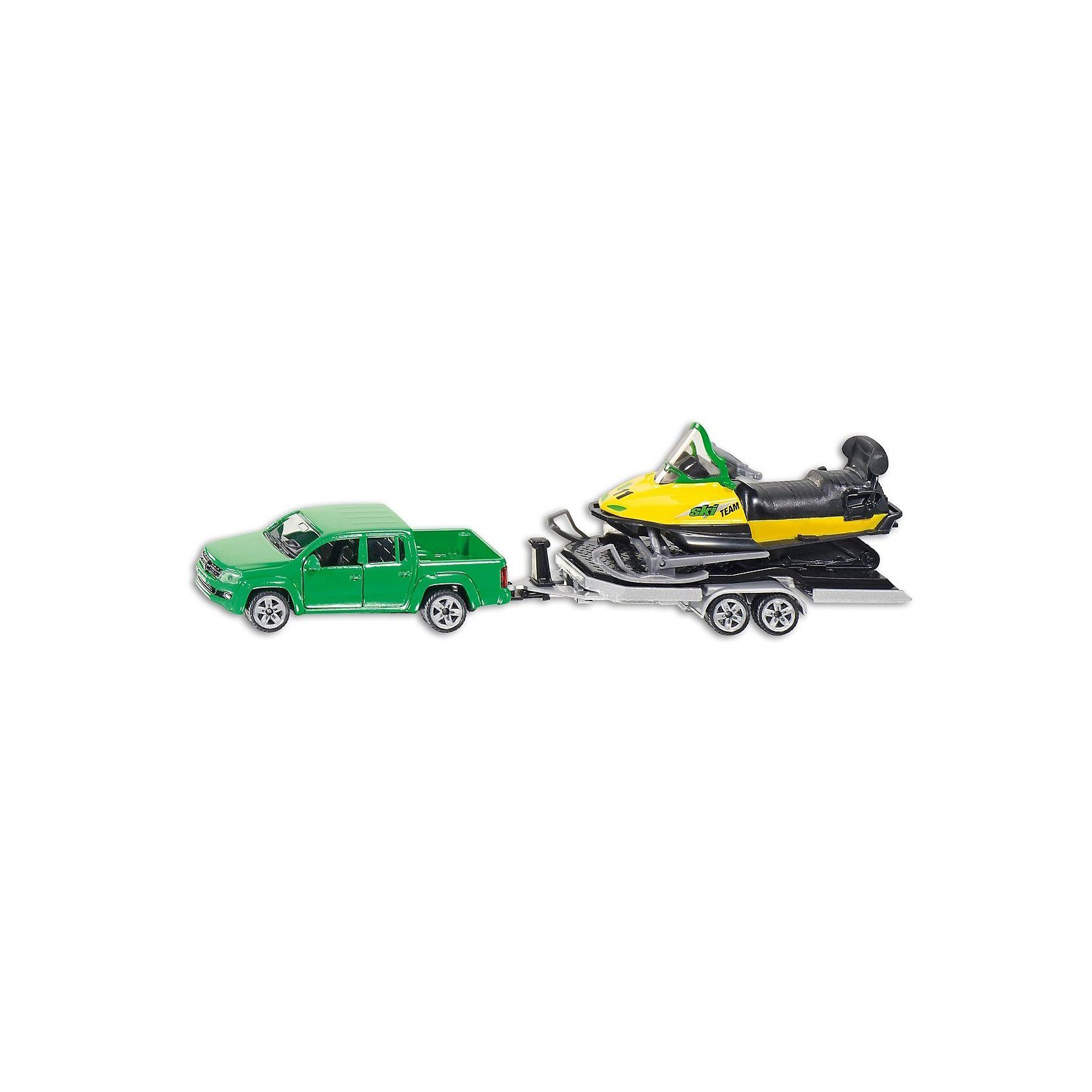 SIKU 2548 PKW mit Anhänger und Snowmobil 1:50