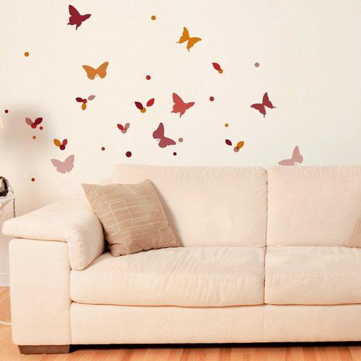 Wandsticker Schmetterlinge, 65-tlg.