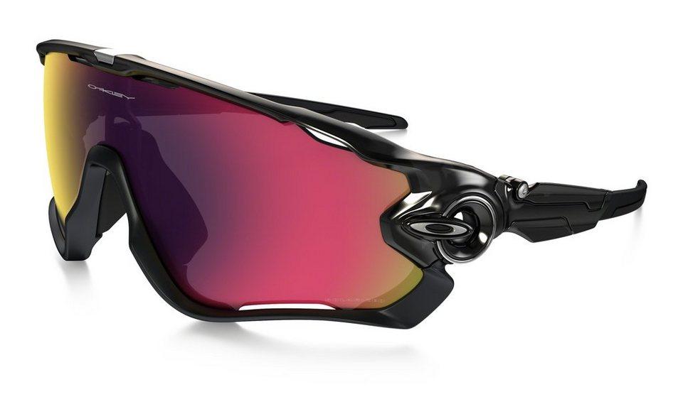 Oakley Radsportbrille »Polarized Jawbreaker« in schwarz