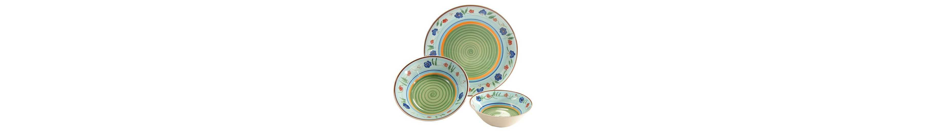 Creatable Steingut Servier-Set, »Flower Serenade« (3-tlg.)