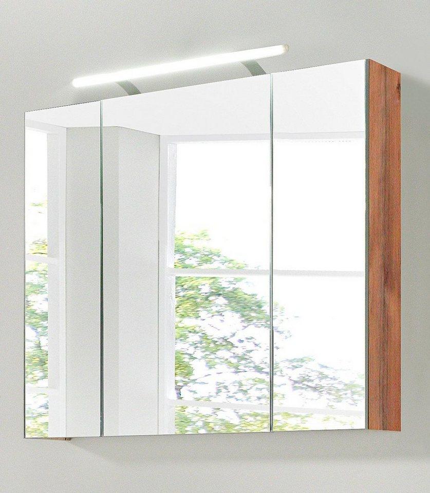 spiegelschrank isola breite 80 cm mit led beleuchtung. Black Bedroom Furniture Sets. Home Design Ideas