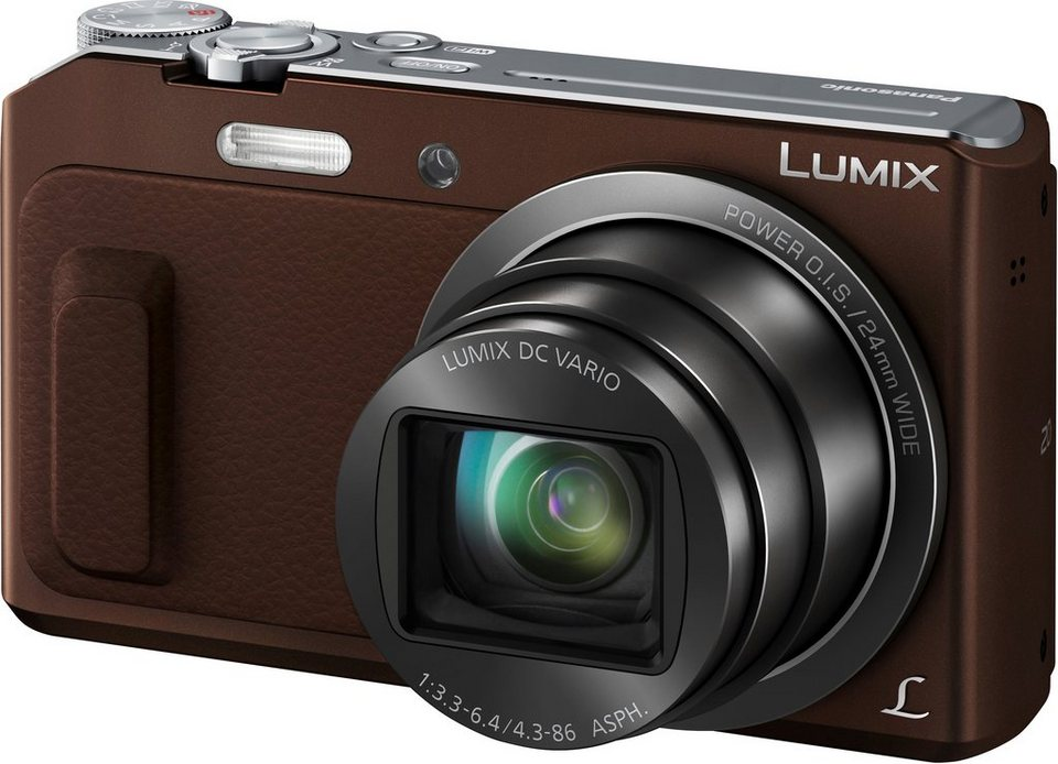 Lumix Panasonic DMC-TZ58EG Super Zoom Kamera, 16 Megapixel, 20x opt. Zoom, 7,5 cm (3 Zoll) Display in braun