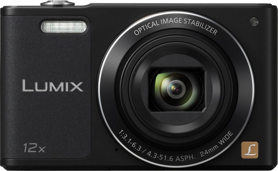 Panasonic DMC-SZ10EG Super Zoom Kamera, 16 Megapixel, 12x opt. Zoom, 6,9 cm (2,7 Zoll) Display in schwarz
