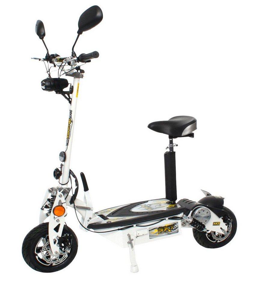 E-Scooter »SXT1000 XL EEC«, 1000 Watt, 40 km/h in weiß