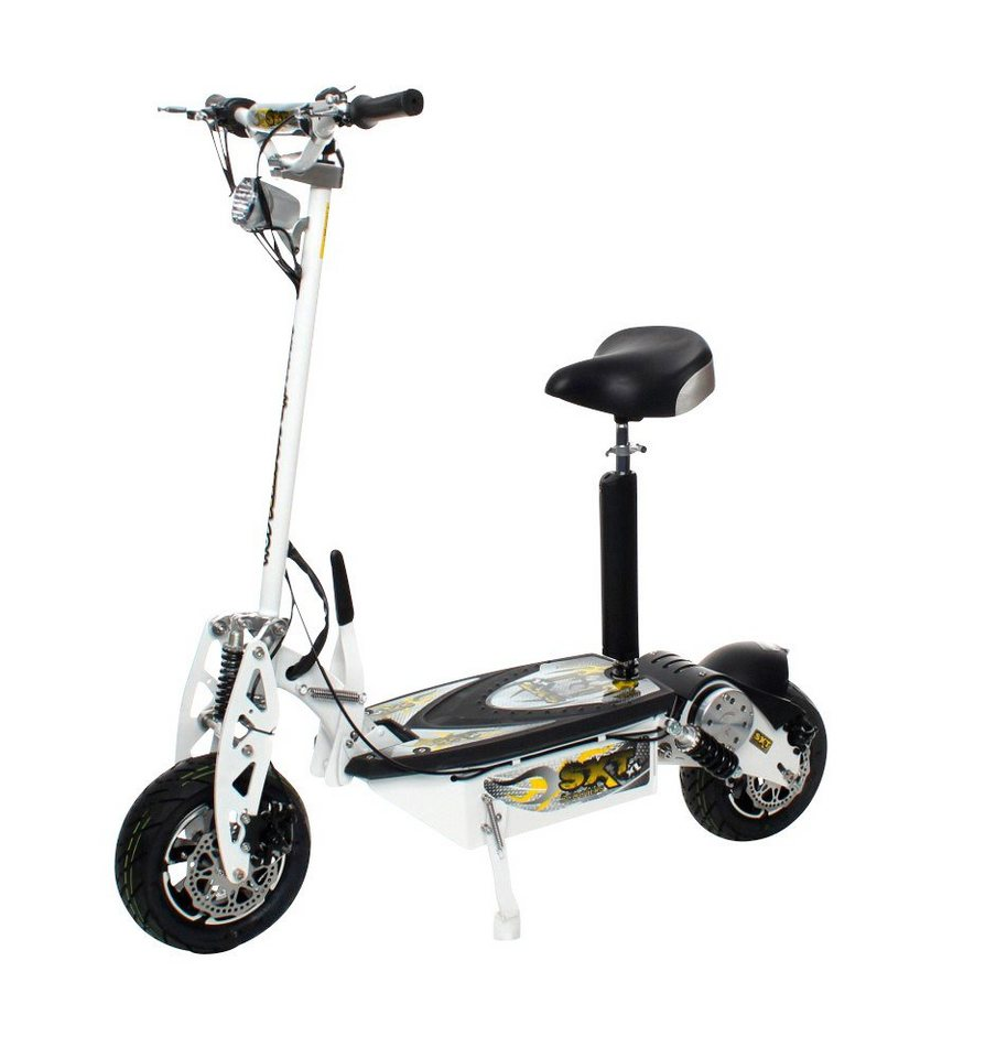 E-Scooter »SXT1000 XL«, 1600 Watt, 55 km/h in weiß
