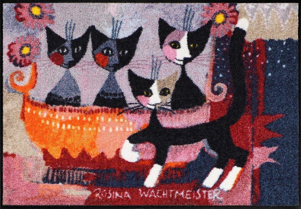 Fußmatte, Rosina Wachtmeiste, »La Mia Famiglia«, waschbar, In- und Outdoor in Bunt