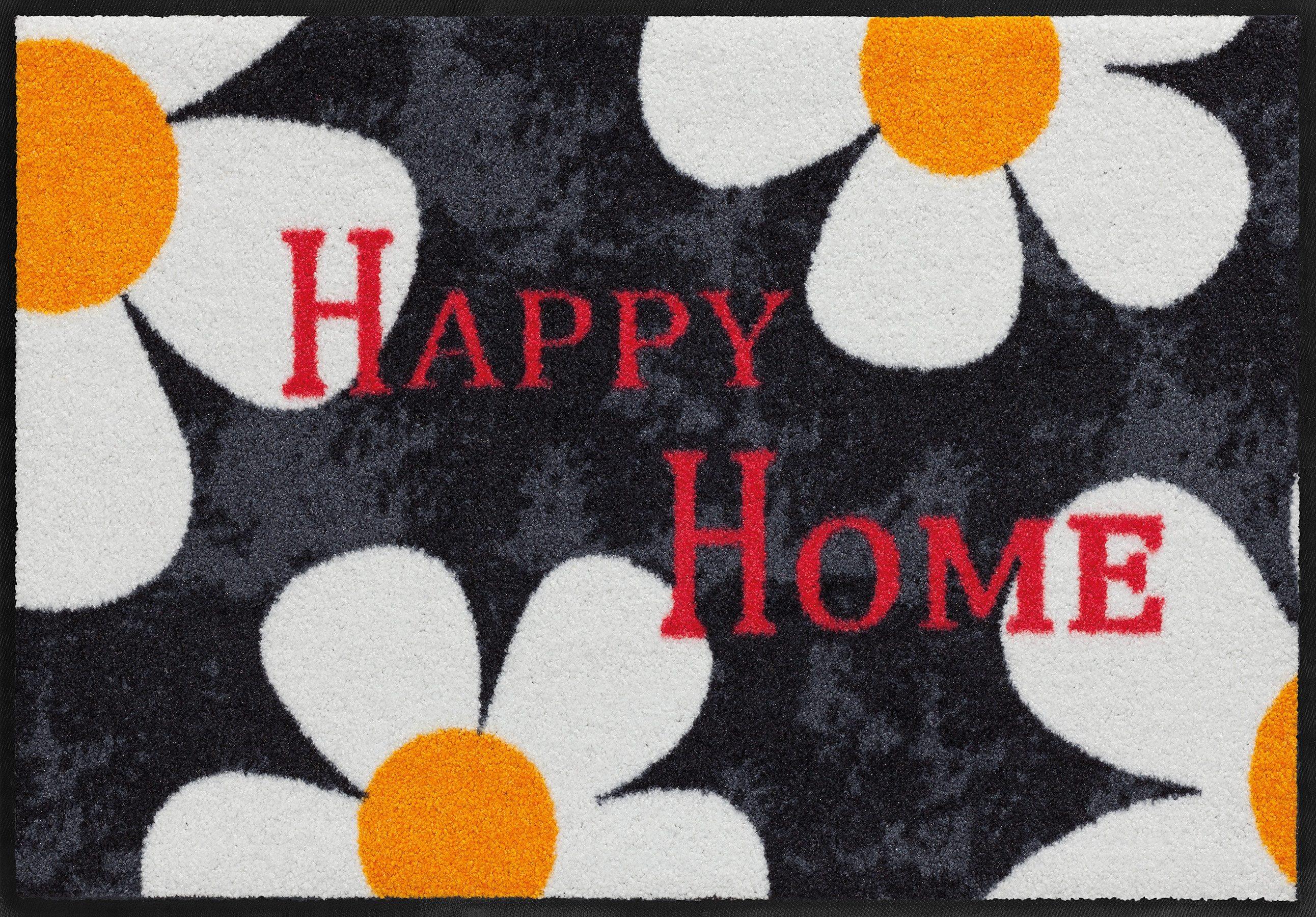 Fußmatte, Salonloewe, »Gänsebluemchen«, waschbar, In- und Outdoor mit rutschhemmender Beschichtung