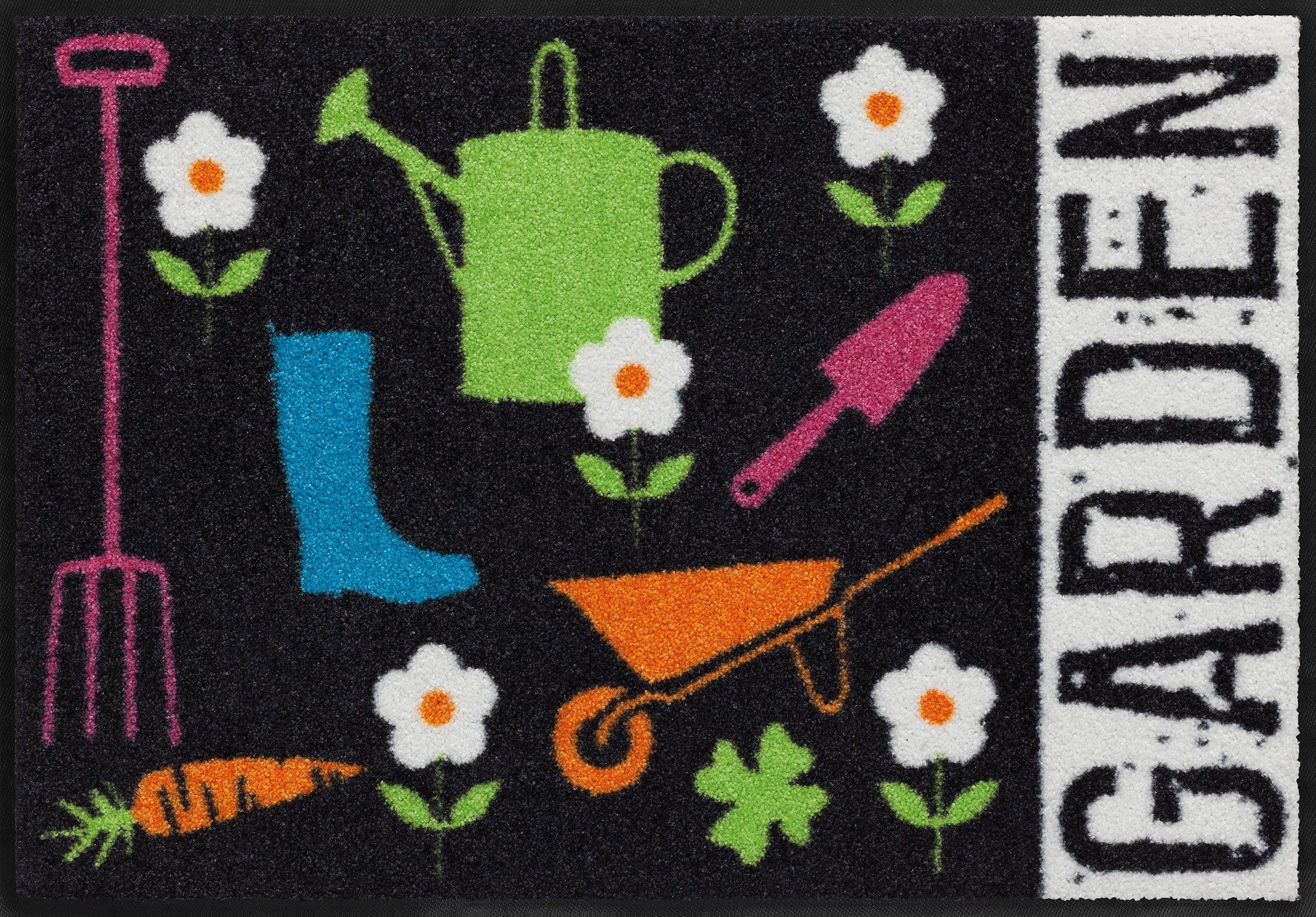 Fußmatte, Salonloewe, »Gartenwerk«, waschbar, In- und Outdoor mit rutschhemmender Beschichtung