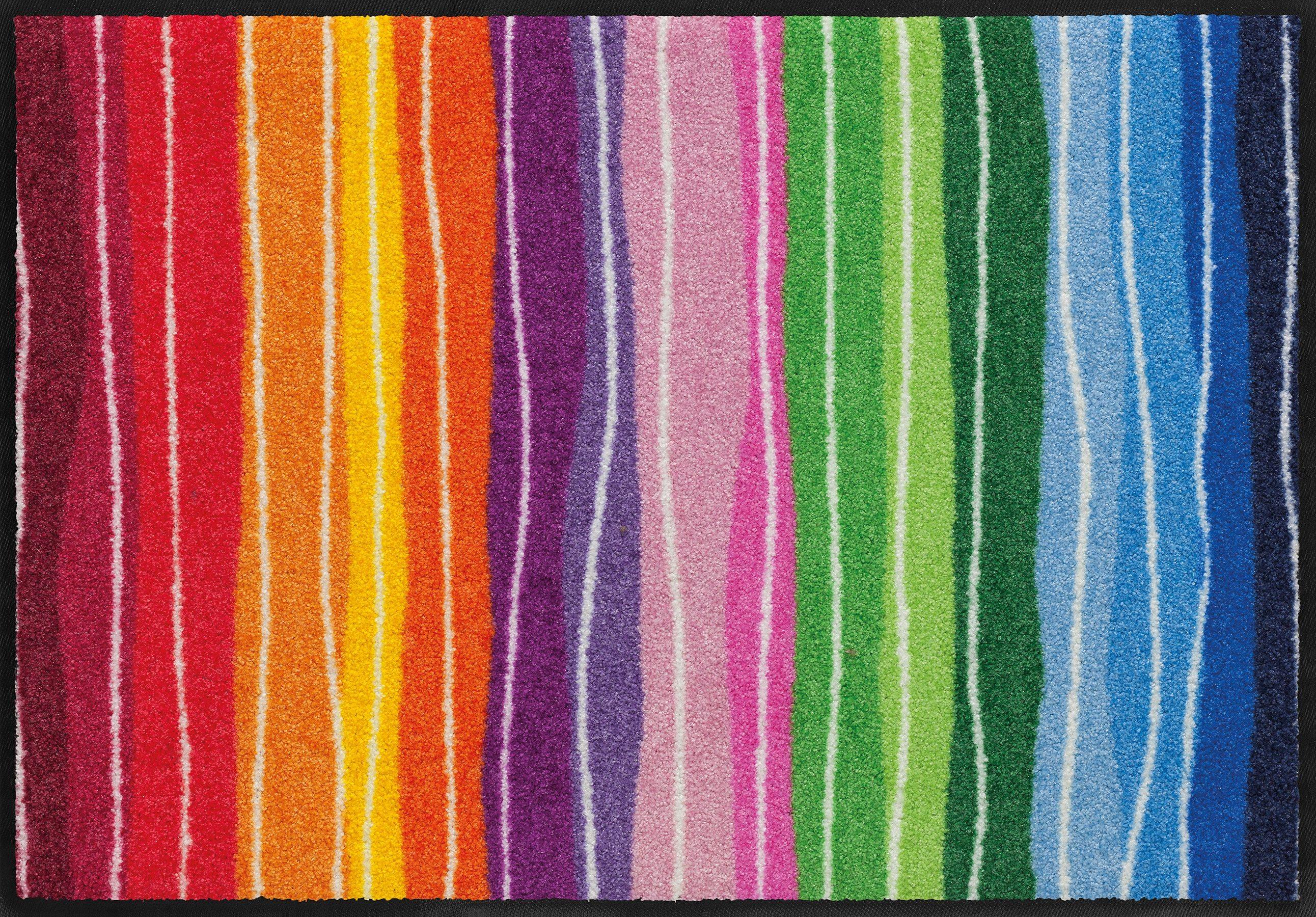 Fußmatte, Salonloewe, »Wavy Lines«, waschbar, In- und Outdoor mit rutschhemmender Beschichtung