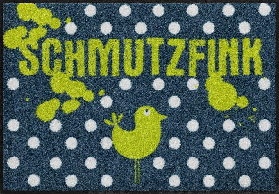 Fußmatte, Salonloewe, »Schmutzfink«, waschbar, In- und Outdoor mit rutschhemmender Beschichtung in Bunt
