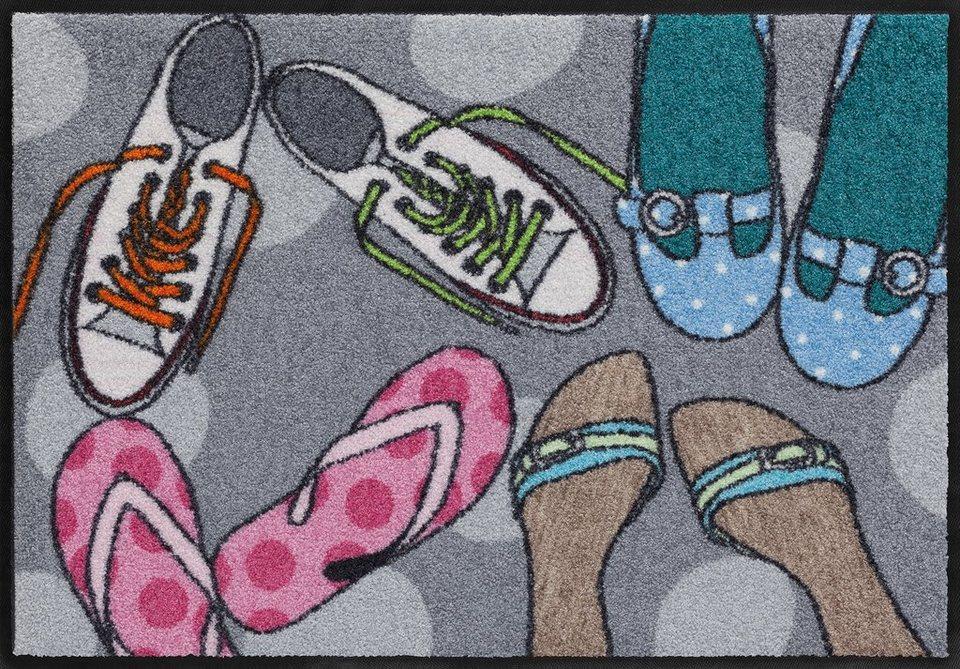 Fußmatte, Salonloewe, »Schuhtreffpunkt«, waschbar, In- und Outdoor mit rutschhemmender Beschichtung in Bunt