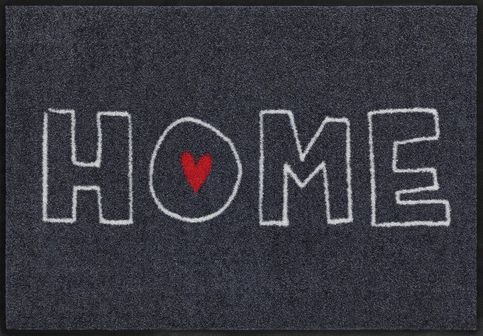 Fußmatte, Salonloewe, »Heart Home«, waschbar, In- und Outdoor mit rutschhemmender Beschichtung in Bunt