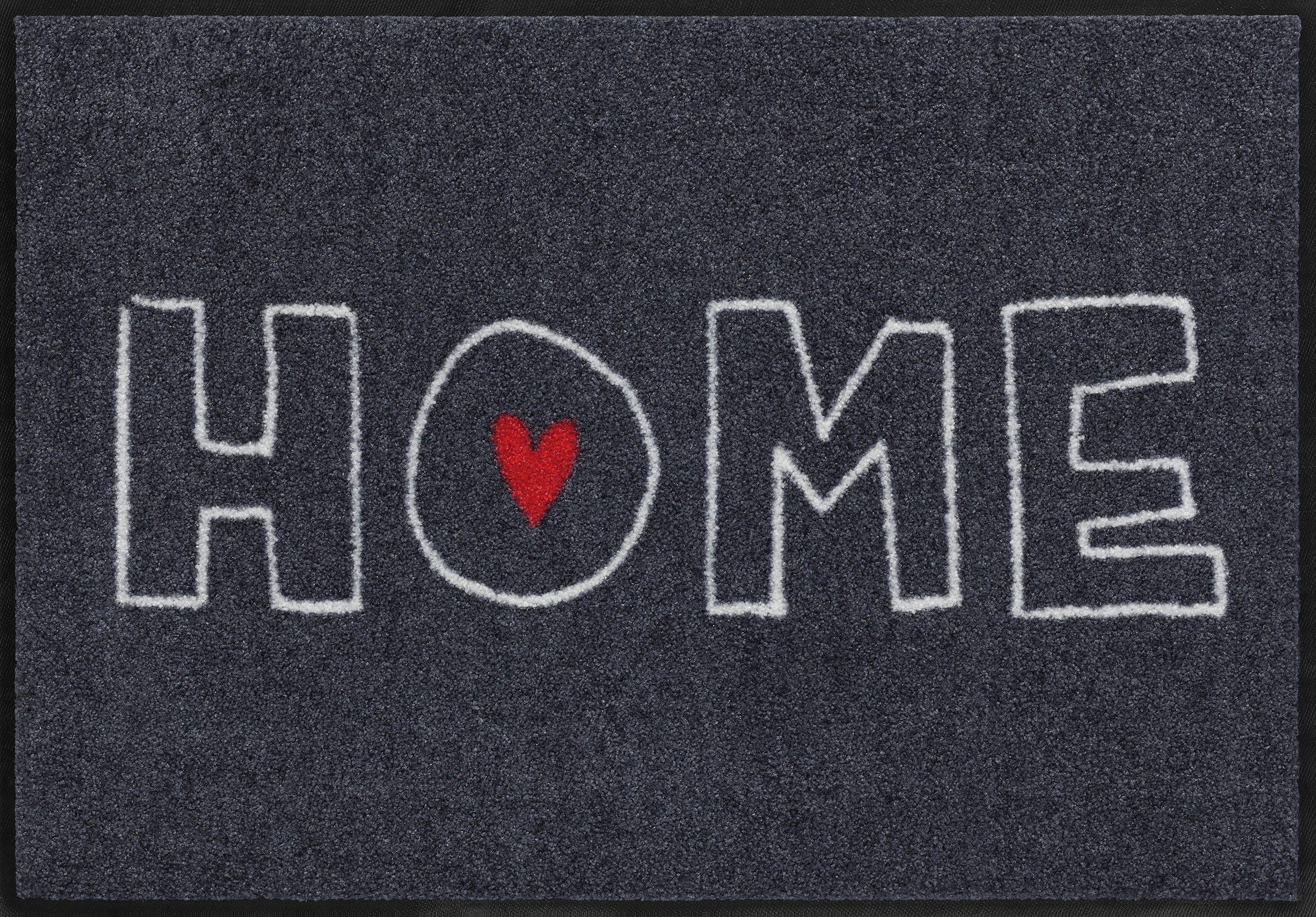 Fußmatte, Salonloewe, »Heart Home«, waschbar, In- und Outdoor mit rutschhemmender Beschichtung