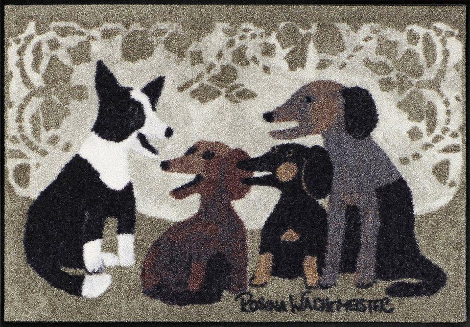 Fußmatte, Rosina Wachtmeister, »Listening to Macchia«, waschbar, In- und Outdoor in Schlamm