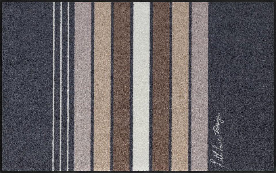 Läufer, Salonloewe, »Block Stripes«, waschbar, In- und Outdoor mit rutschhemmender Beschichtung in Grau