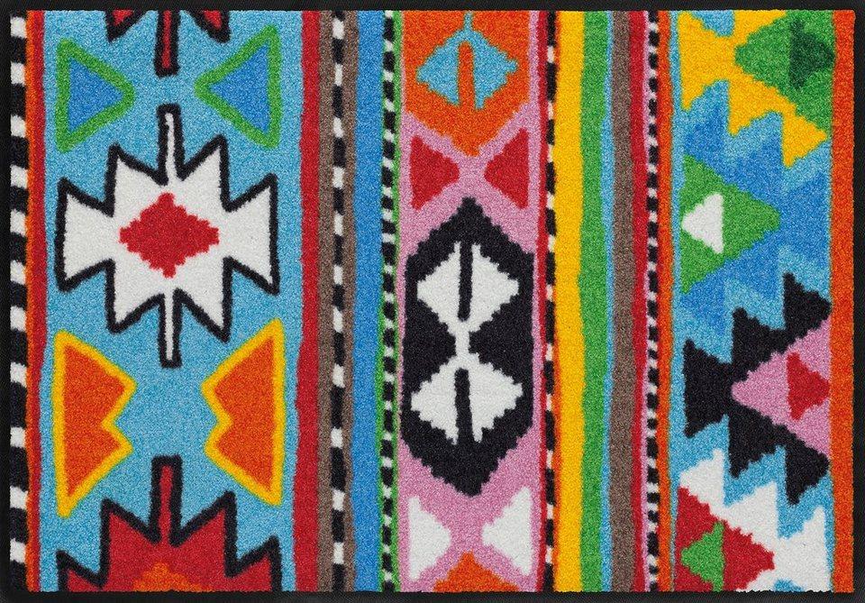 Fußmatte, Salonloewe, »Inka«, waschbar, In- und Outdoor mit rutschhemmender Beschichtung in Bunt