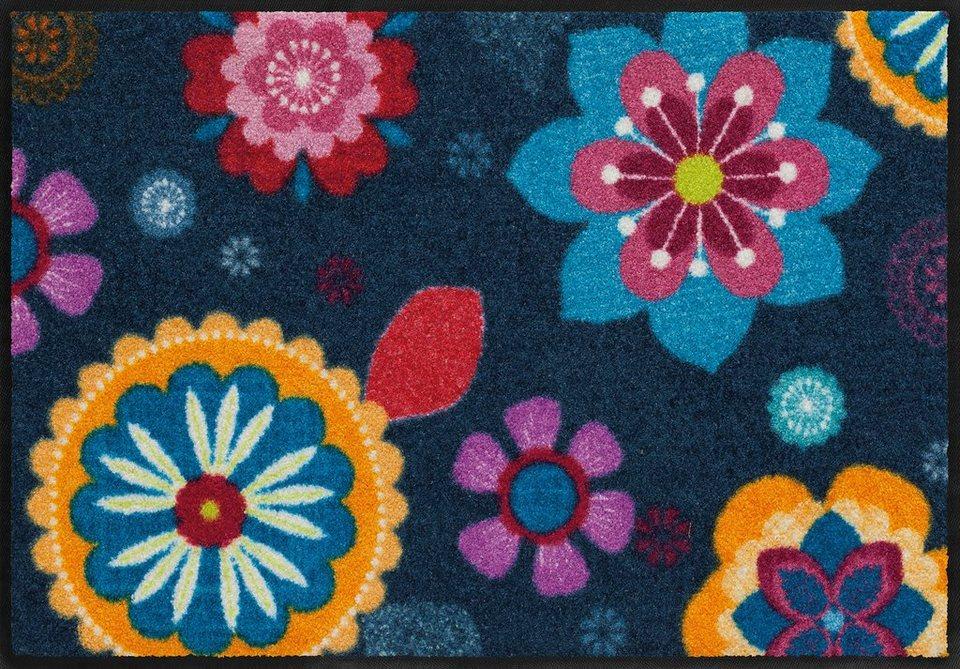 Fußmatte, Salonloewe, »Boehemian Flower«, waschbar, In- und Outdoor mit rutschhemmender Beschichtung in Bunt