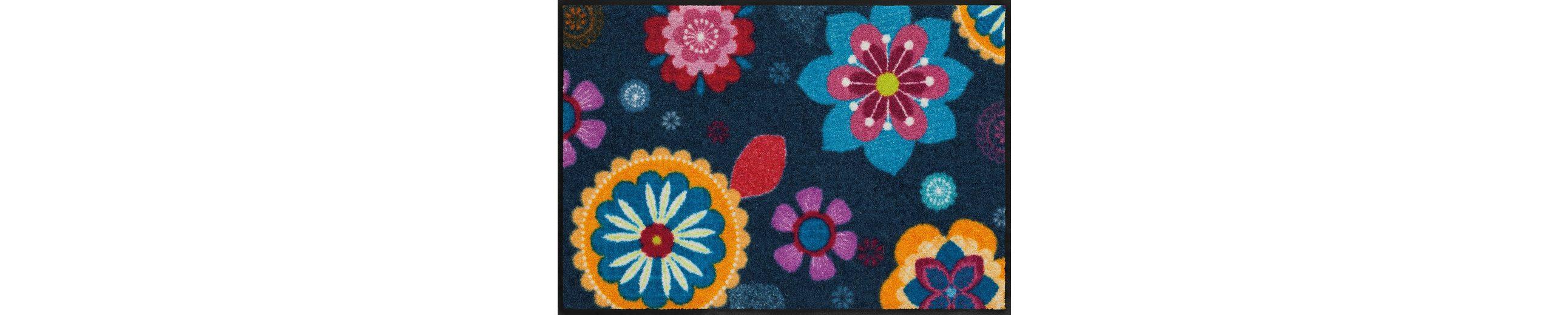 Fußmatte, Salonloewe, »Boehemian Flower«, waschbar, In- und Outdoor mit rutschhemmender Beschichtung