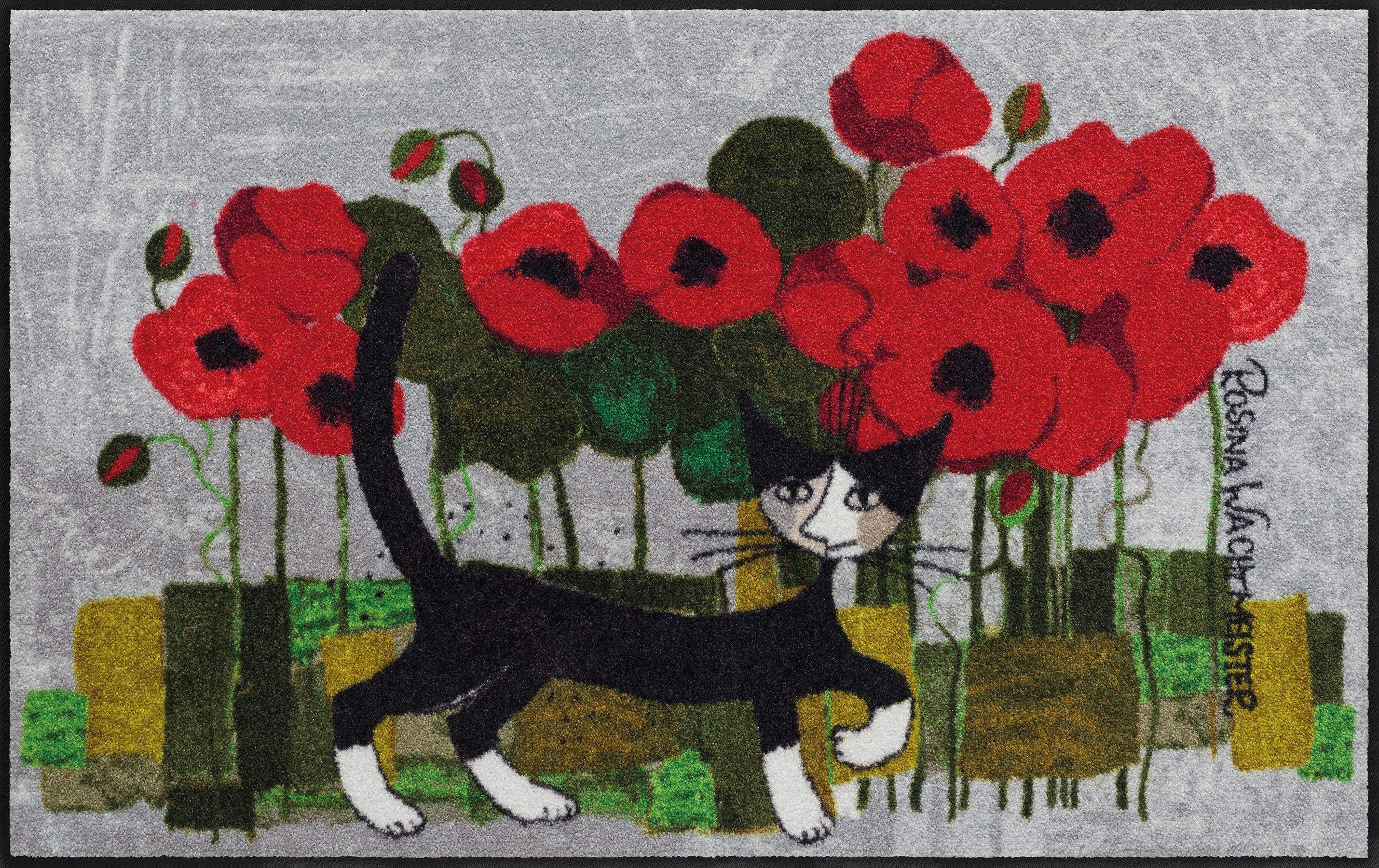 Läufer »Poppywalk by Rosina Wachtmeister«, Rosina Wachtmeister, rechteckig, Höhe 7 mm, waschbar, In- und Outdoor