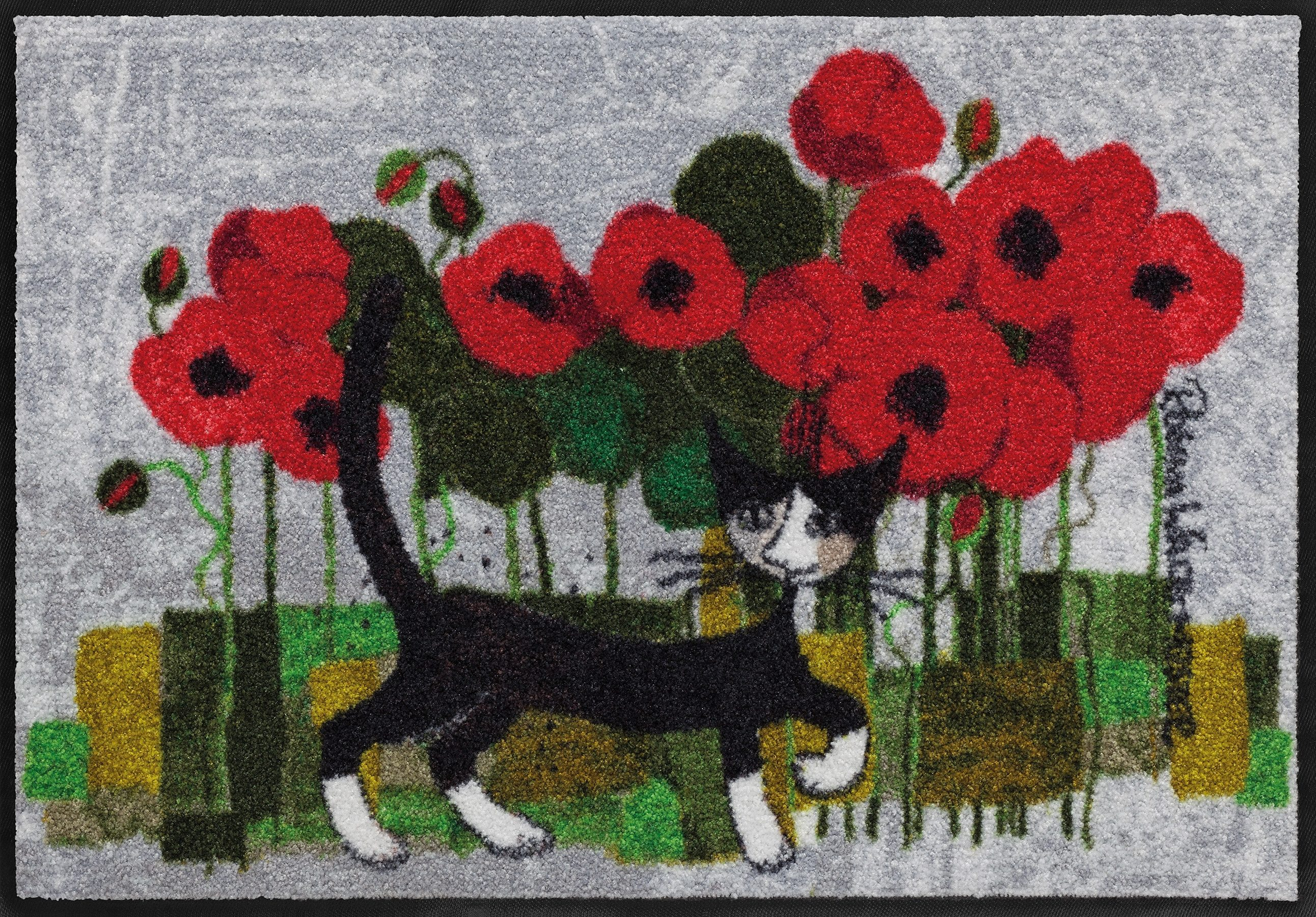 Fußmatte, Rosina Wachtmeister, »Poppywalk by Rosina Wachtmeister«, waschbar, In- und Outdoor