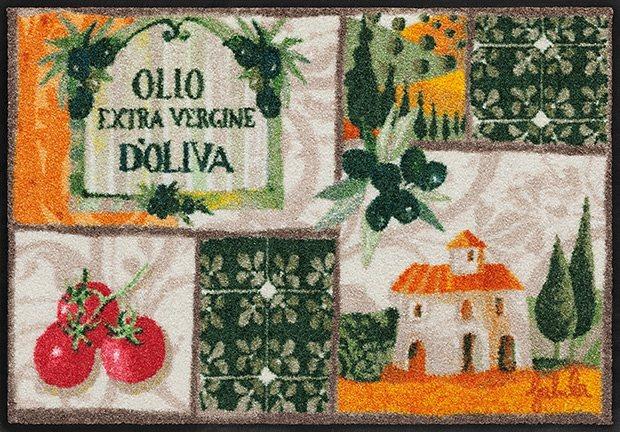 Fußmatte, Rosina Wachtmeister, »Toscana Patchwork«, waschbar, In- und Outdoor in Bunt
