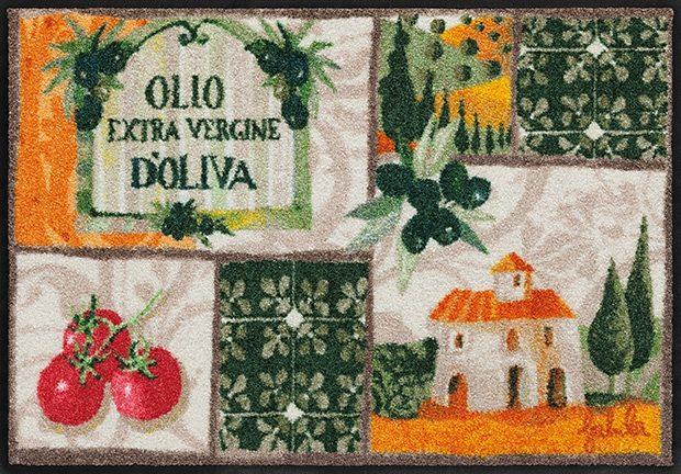 Fußmatte, Rosina Wachtmeister, »Toscana Patchwork«, waschbar, In- und Outdoor