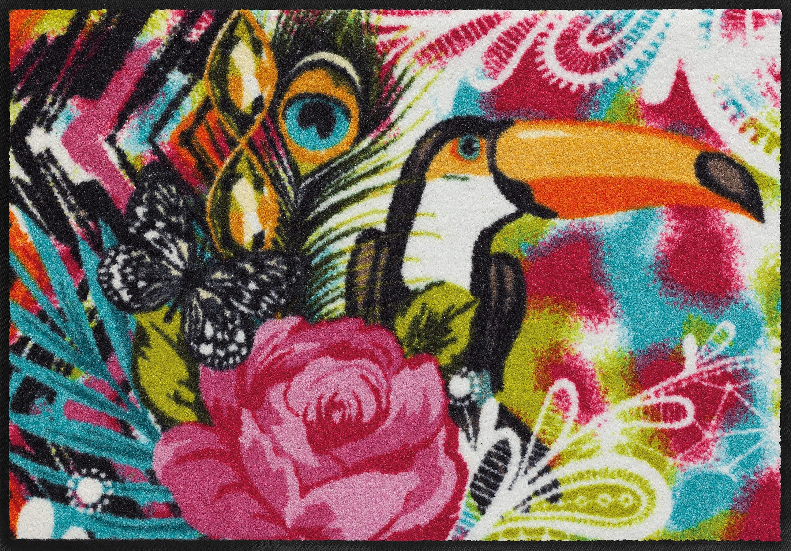 Fußmatte »Tukan«, Salonloewe, rechteckig, Höhe 7 mm, waschbar, In- und Outdoor mit rutschhemmender Beschichtung