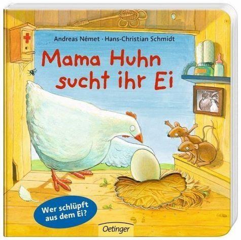 Buch mit Papp-Einband »Mama Huhn sucht ihr Ei«