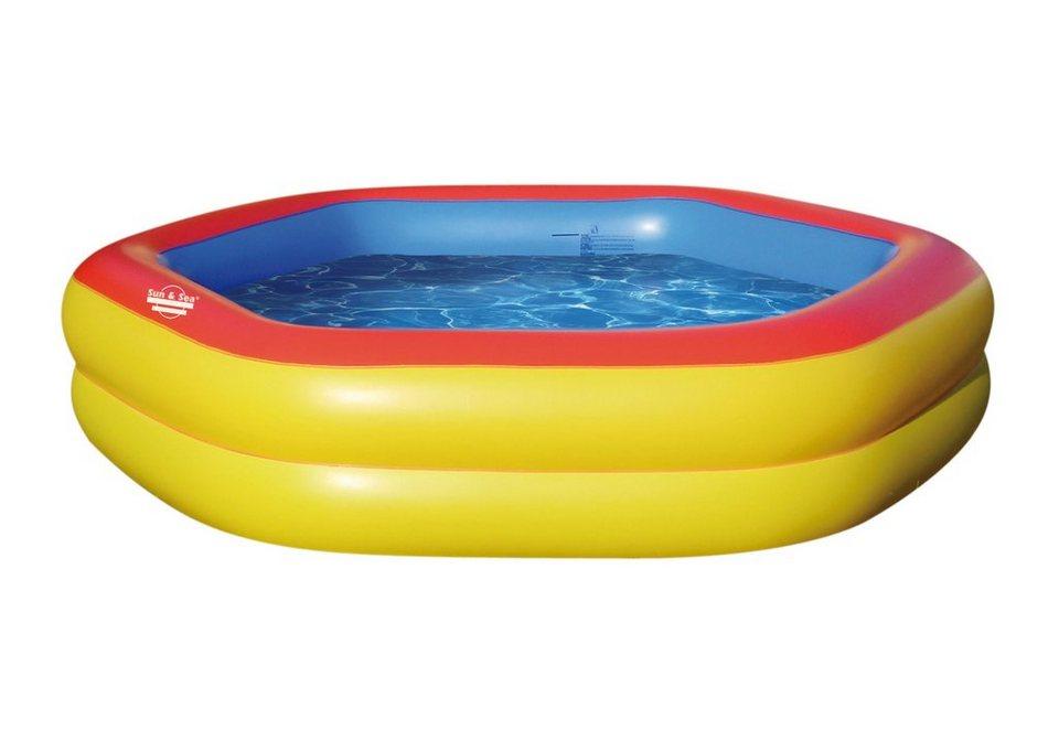 Sun and Sea Pool, »Hexagonal« in gelb-rot-blau