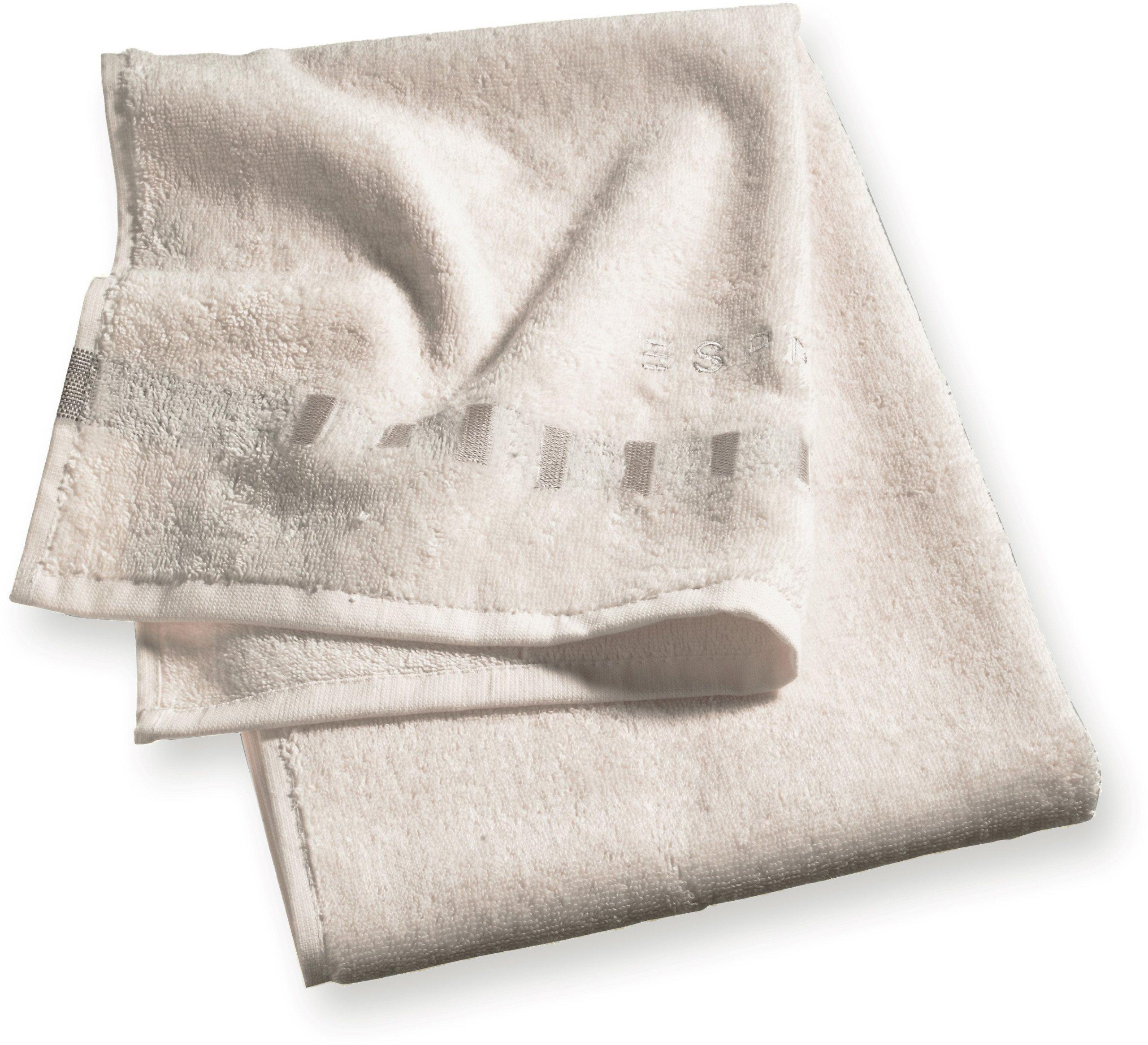Badetuch, Esprit, »Solid«, mit Bordüre aus Rechtecken | Bad > Handtücher > Badetücher | Esprit