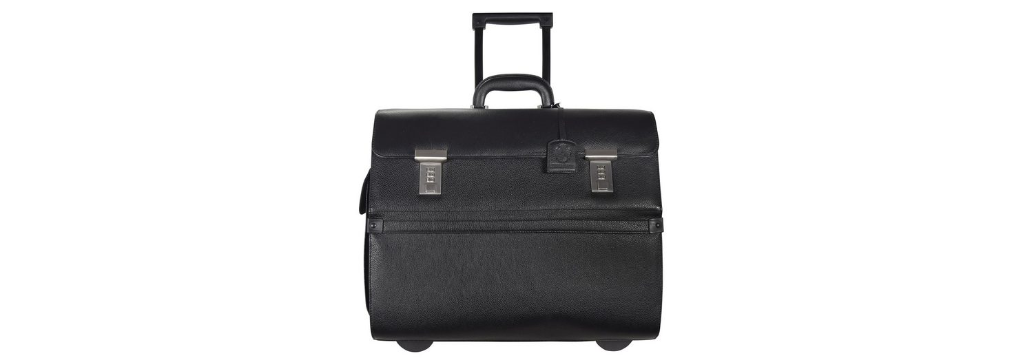 Leonhard Heyden Leonhard Heyden Hamburg Businesstrolley Leder 45 cm Laptopfach