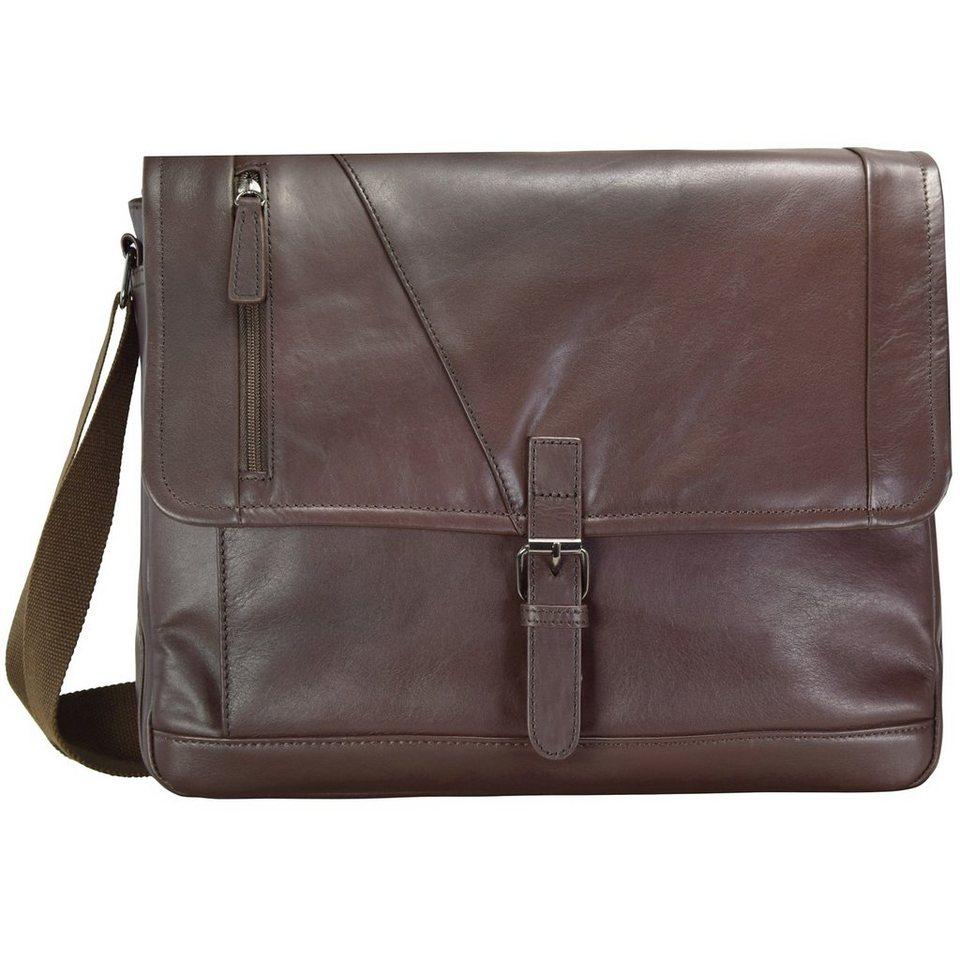 d & n Business Line Umhängetasche 39 cm Laptopfach in brown