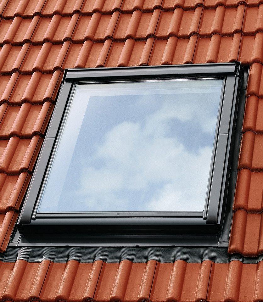 Eindeckrahmen »EDZ 2000« für Fenstergröße: FK06 in alu-grau in grau