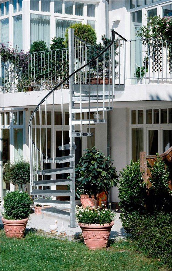 Außentreppe »Gardenspin« in grau