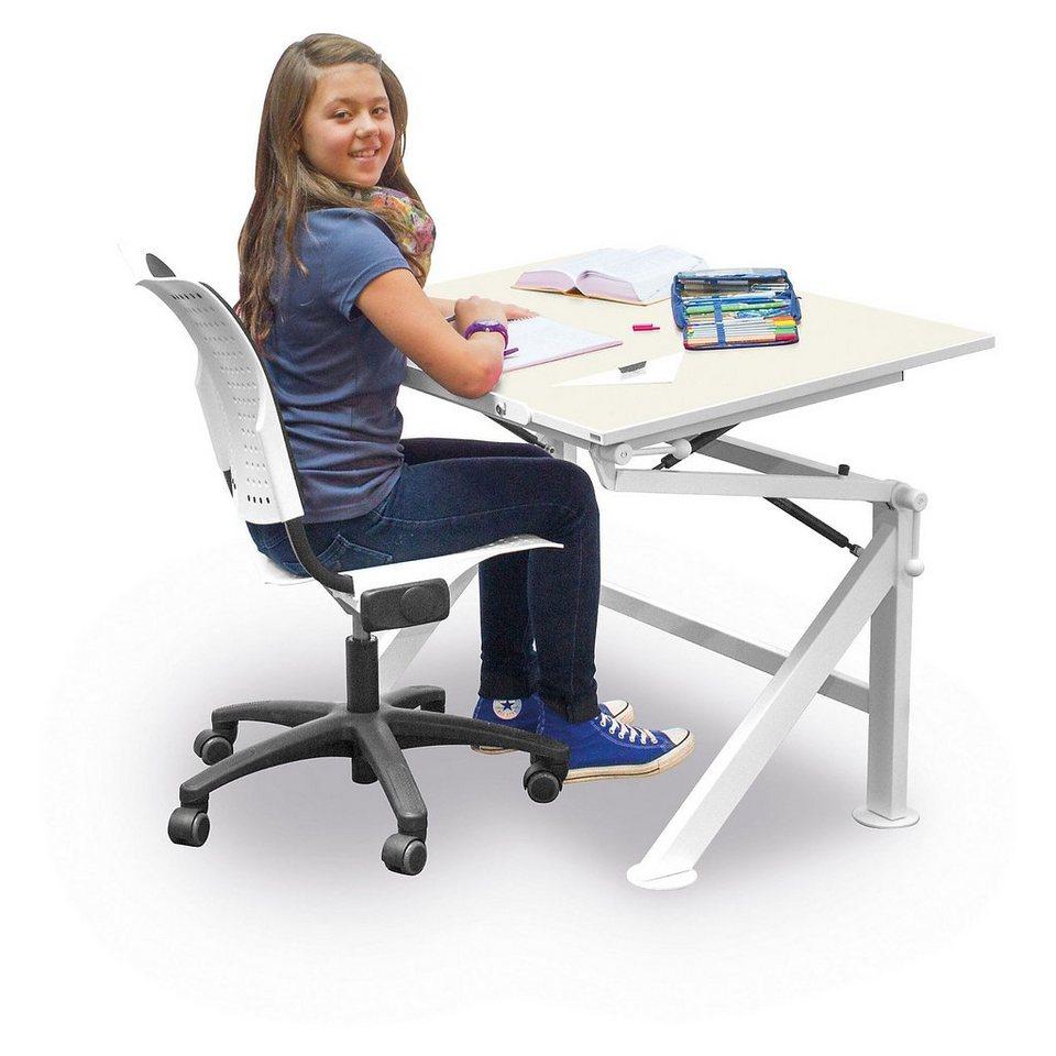 Eduplay Schreibtisch, Kristallweiß in weiß