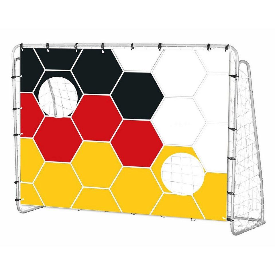 Fußballtor mit Deutschland-Torwand, 213 cm in gemustert
