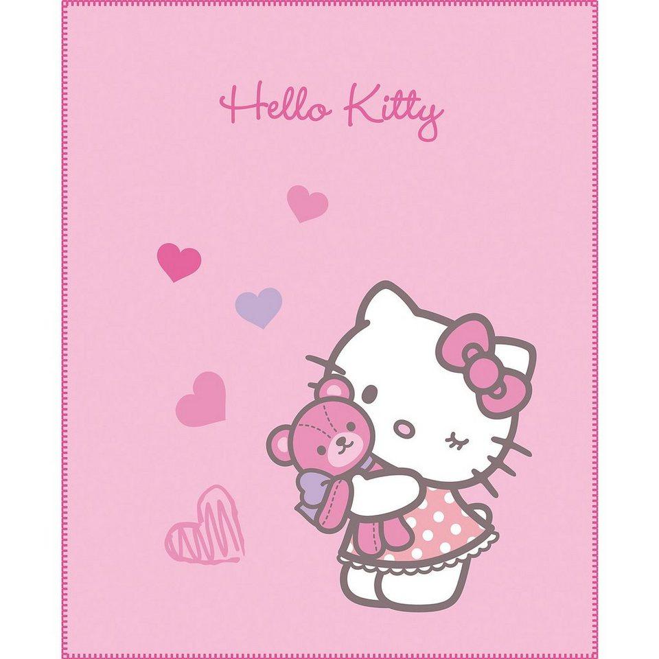 CTI Kuscheldecke Hello Kitty, Mimi Love Pink, 110 x 140 cm in pink