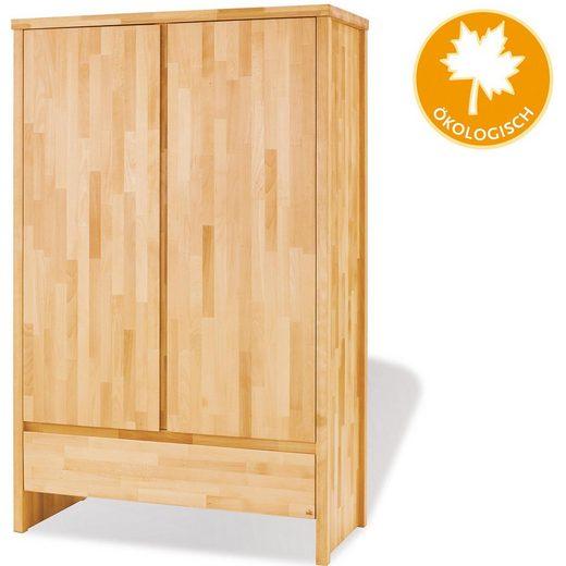 pinolino kleiderschrank fagus 2 t rig buche vollmassiv ge lt online kaufen otto. Black Bedroom Furniture Sets. Home Design Ideas