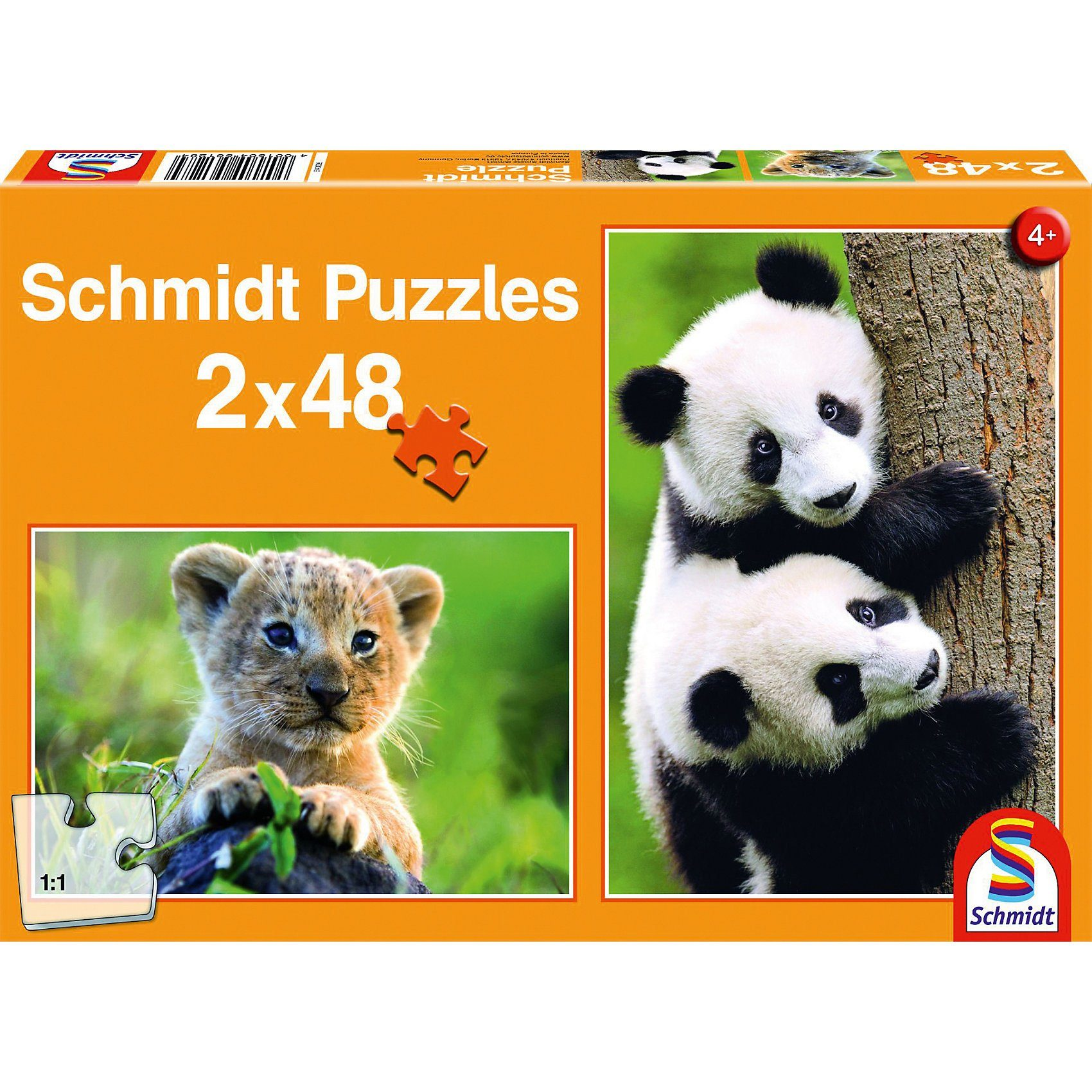 Schmidt Spiele Süße Tierbabys, 2 x 48 Teile