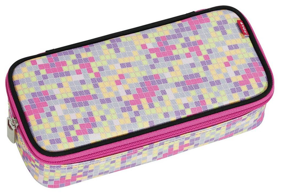 4YOU Mäppchen mit Geodreieck®, Pixel Sunset, »Pencil Case« in Pixel Sunset