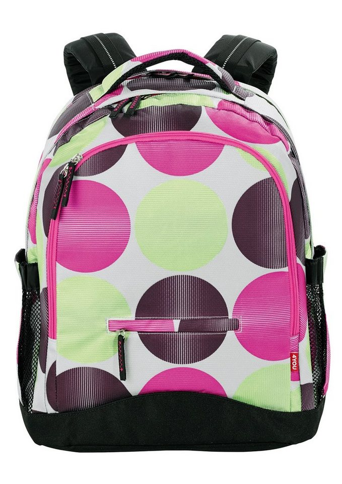 4YOU Schulrucksack mit Laptopfach, Dots, »Compact« in Dots