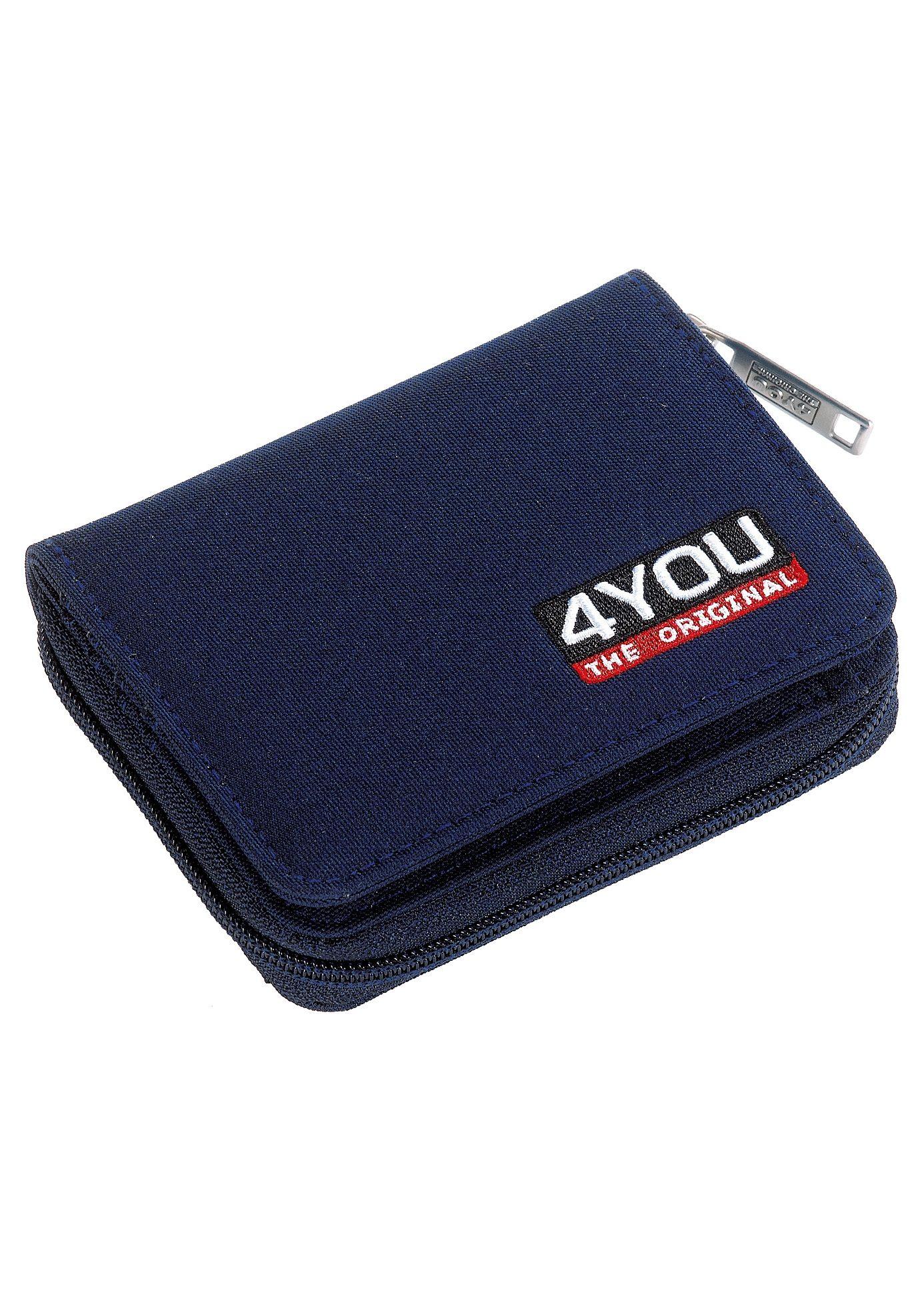 4YOU Geldbörse mit Reißverschluss, Marine, »Zipper Wallet«