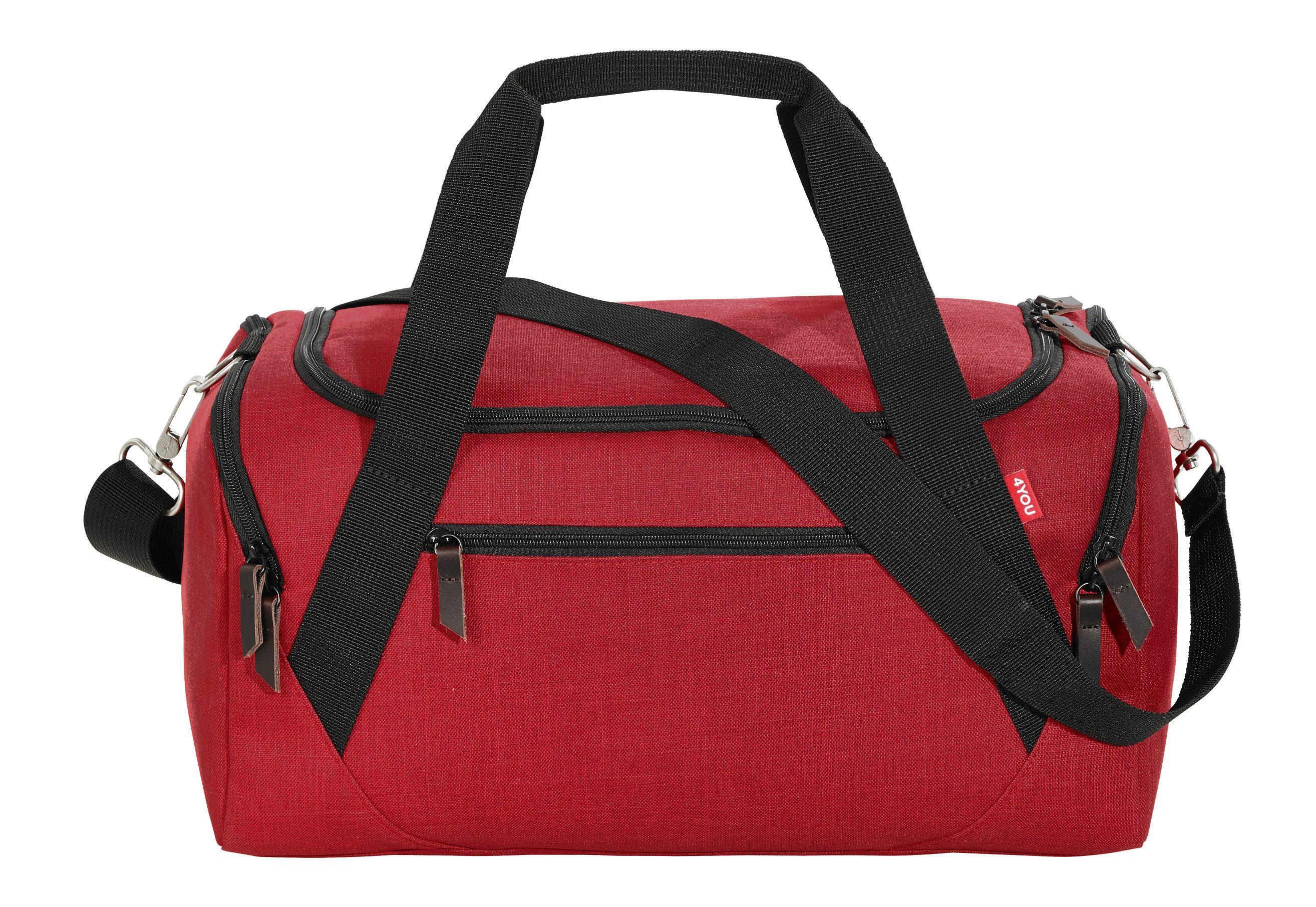 4YOU Sporttasche, Soft Red, »Sportbag«