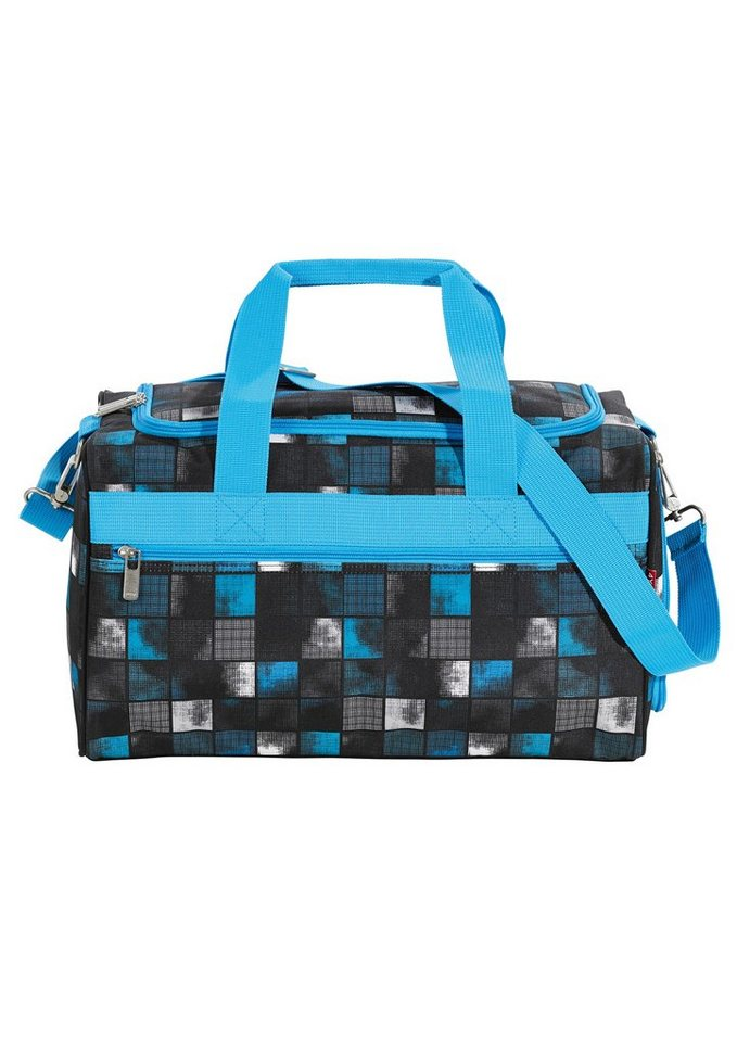 4YOU Sporttasche, Square Blue/Grey, »Sportbag M« in Square Blue/Grey