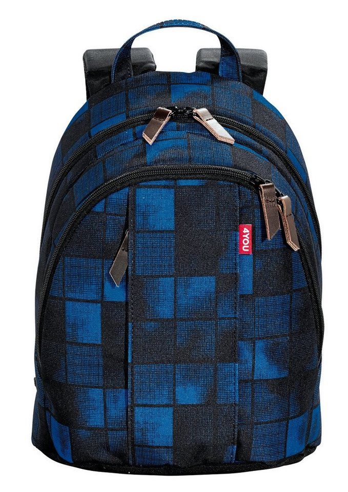 4YOU Rucksack, Squares Blue, »Minirucksack« in Squares Blue