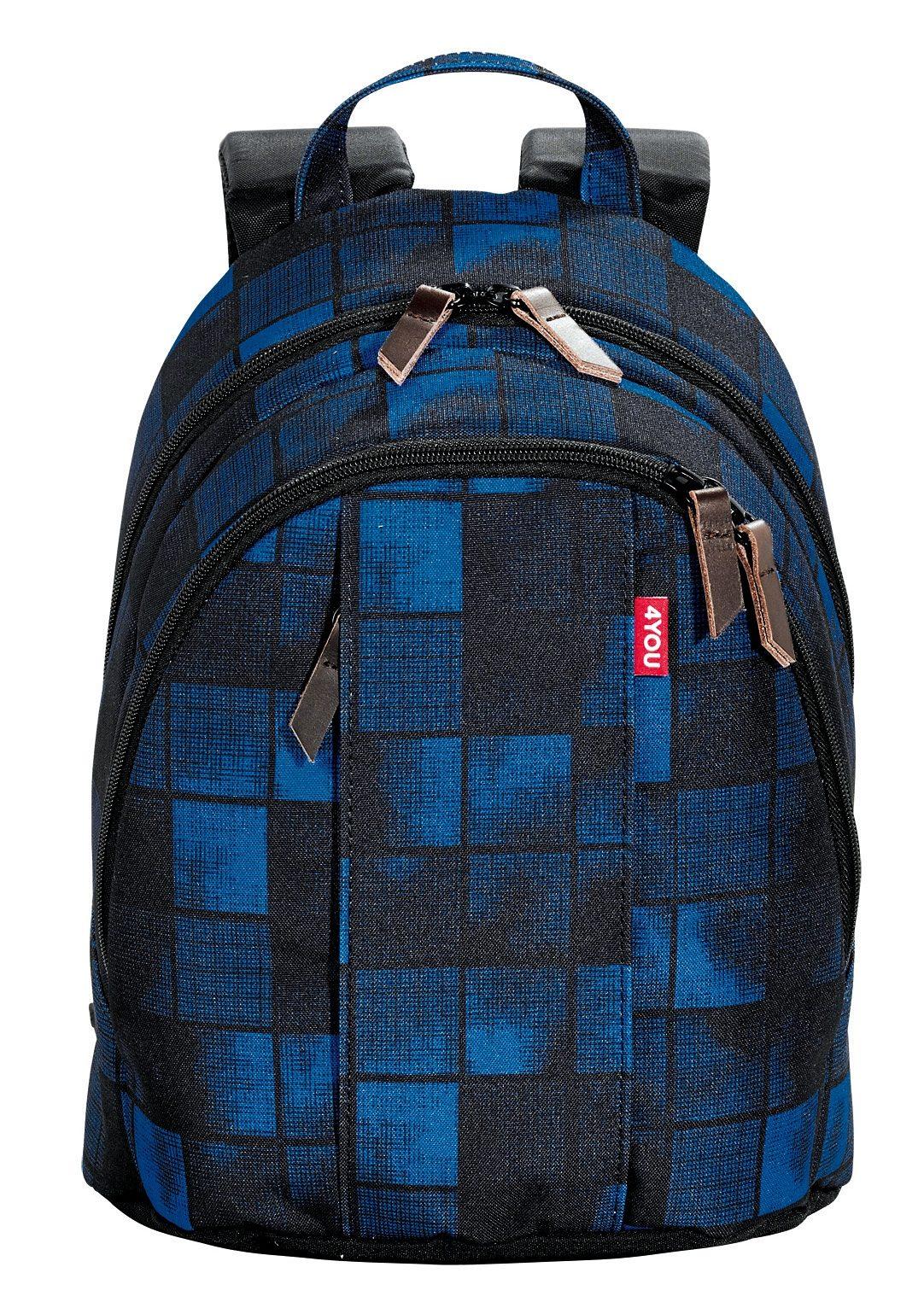 4YOU Rucksack, Squares Blue, »Minirucksack«