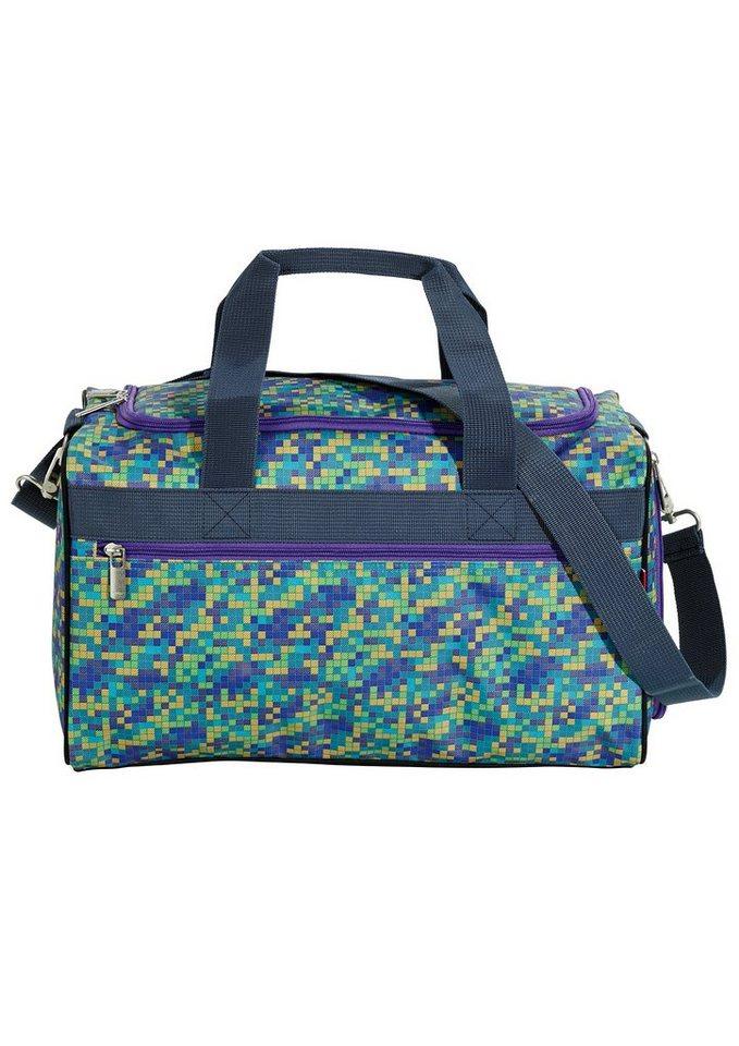 4YOU Sporttasche, Pixel Smaragd, »Sportbag M« in Pixel Smaragd