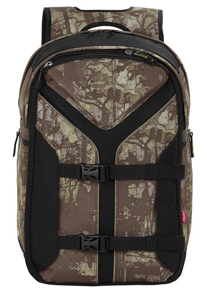 4you rucksack mit laptopfach camou wood boomerang sport online kaufen otto. Black Bedroom Furniture Sets. Home Design Ideas